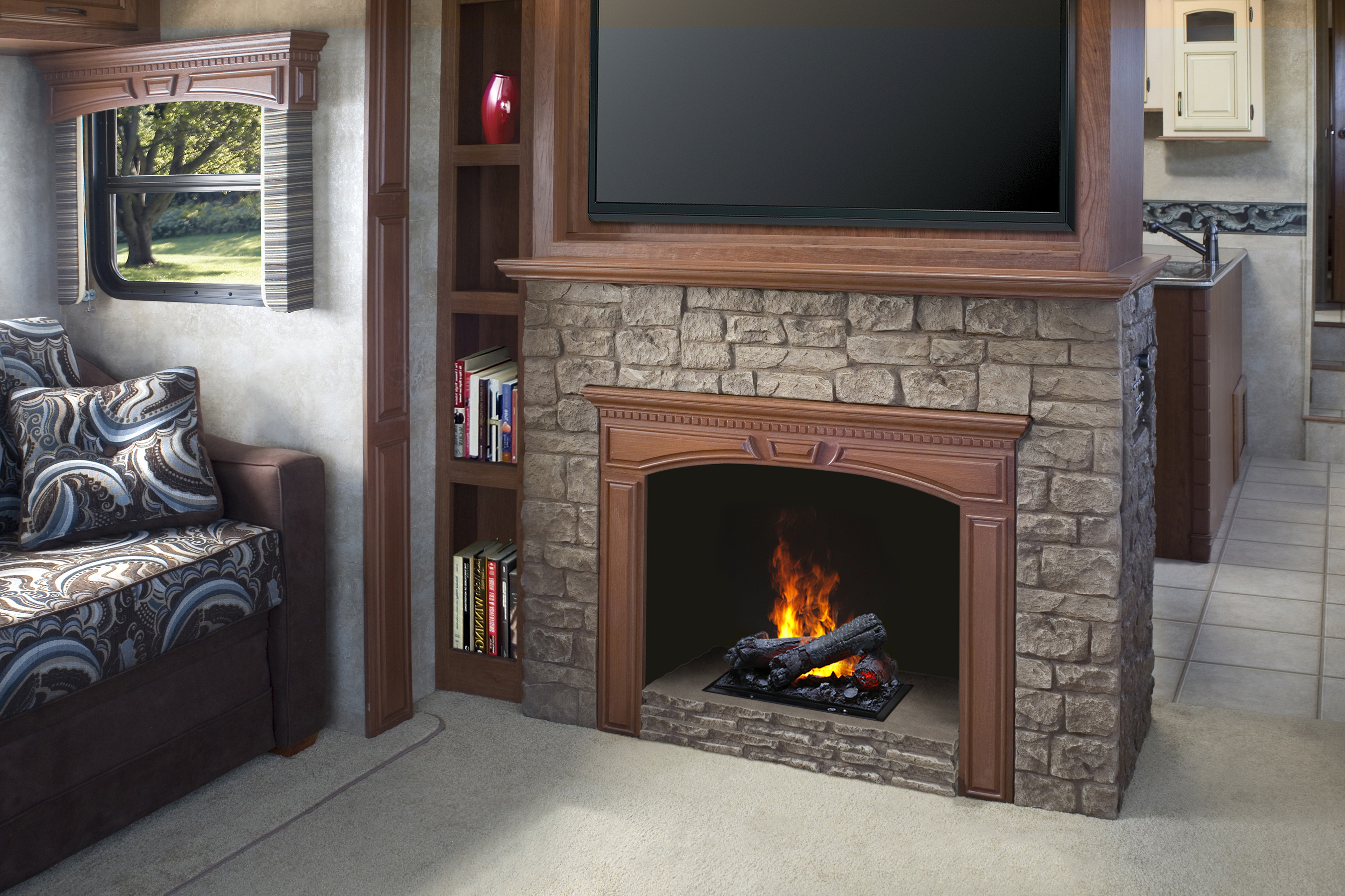 inner dimplex glow heater mantel grey log linwood electric guys fireplace logs inch for gas rift